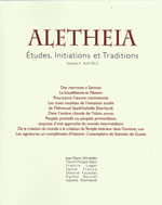 Collectif Aletheia, études, initiations et traditions. Volume 4 avril 2012 Librairie Eklectic